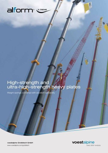 High-strength and ultra-high-strength heavy plates - voestalpine