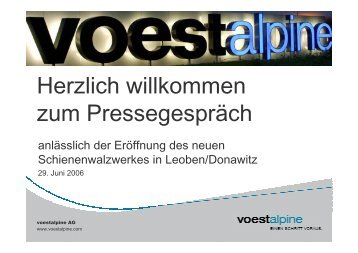 Donawitz Präsentation (1,61 MB) - voestalpine
