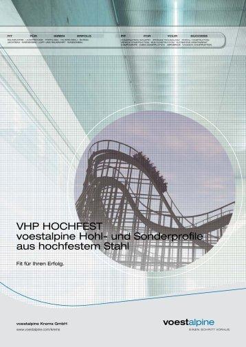 Broschüre VHP Hochfest - voestalpine