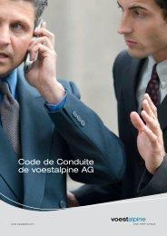 Code de Conduite de voestalpine AG