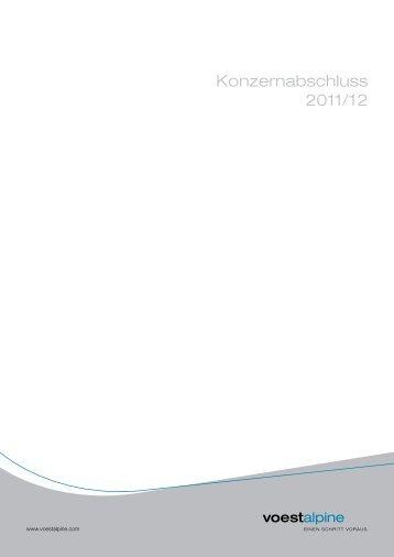 Konzernabschluss 2011/12 - voestalpine