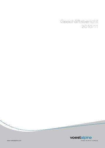 Geschäftsbericht 2010/11 - voestalpine