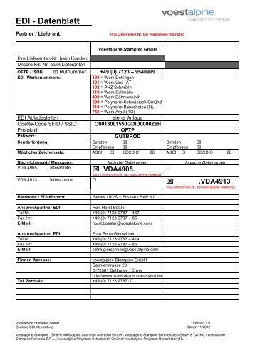 EDI-Datenblatt (362 KB) - voestalpine