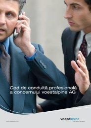 Cod de conduită profesională a concernului voestalpine AG