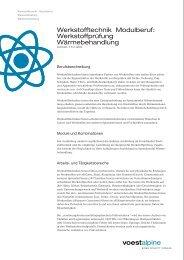 Werkstofftechnik Modulberuf: Werkstoffprüfung ... - voestalpine
