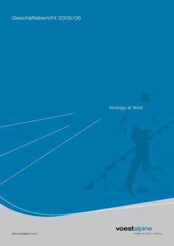 Geschaeftsbericht_2005-06 - voestalpine