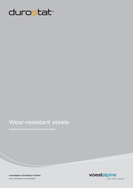 Wear-resistant steels - voestalpine