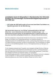 voestalpine Medieninformation 2009-03-27