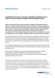 Related Document (voestalpine Media Information 26.2.2009)