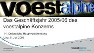 Folien zur Hauptversammlung 2006 (431 KB) - voestalpine