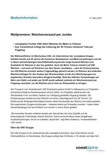 voestalpine Medieninformation 2009-03-12