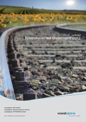 Environmental Statement 2012 (3.25 MB) - voestalpine