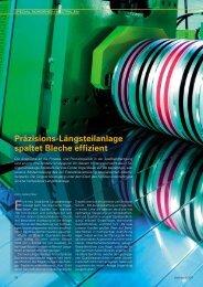 Präzisions-Längsteilanlage spaltet Bleche effizient - Vogel-Bauer