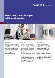 Mobile User – weltweiter Zugriff auf ... - Voith IT Solutions