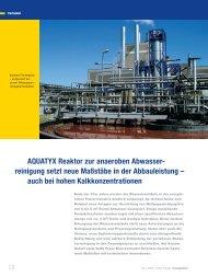 AQUATYX Reaktor zur anaeroben Abwasser- reinigung setzt ... - Voith