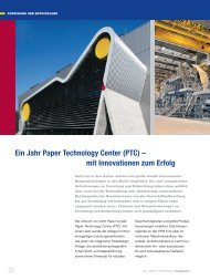 Ein Jahr Paper Technology Center (PTC) – mit Innovationen ... - Voith