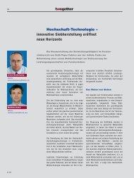 Hochschaft-Technologie – innovative Siebherstellung ... - Voith