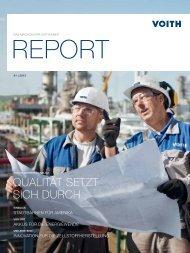 Voith Report, Magazin für Voithianer Ausgabe 1/2013
