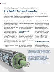 Erste NipcoFlex T erfolgreich angelaufen - Voith