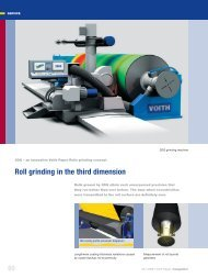 Roll grinding in the third dimension - Voith