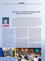 Voith Paper und IHI stärken Partnerschaft Gestalten, aufbauen ...