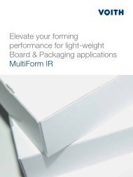 Elevate your forming performance for light-weight Board ... - Voith