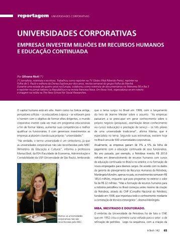 Universidades Corporativas - Silvana Nuti - Educação Corporativa