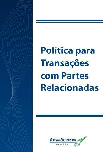 Política Transação com Partes Relacionadas e demais Situações