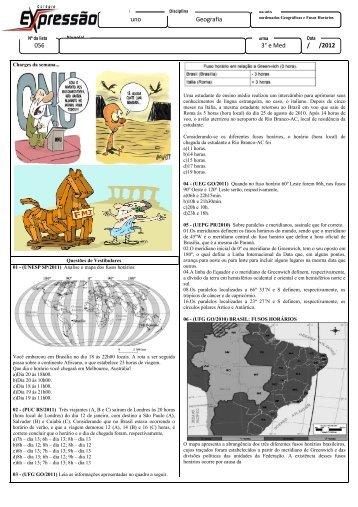 Bruno 056 Bruno Geografia / /2012 3° e Med - Colégio Expressão