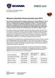 Motores industriais Scania prontos para 2014