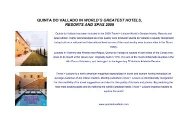 quinta do vallado in world´s greatest hotels, resorts ... - Wonderfulland