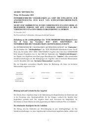 Ad-hoc Meldung herunterladen - Volksbank