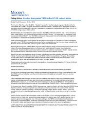 Moody's downgrades VBAG to Baa3/P-3/E; outlook ... - Volksbank AG