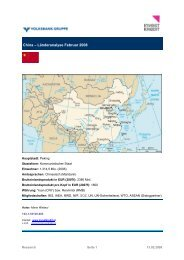 China – Länderanalyse Februar 2008 - Volksbank