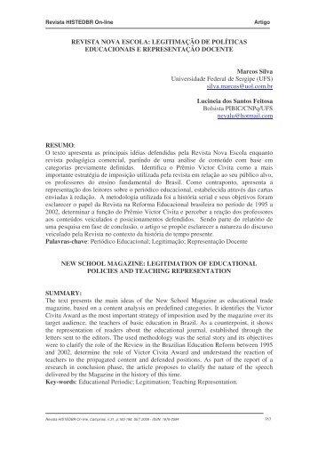 REVISTA NOVA ESCOLA - histedbr - Unicamp