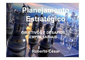 OBJETIVOS E DESAFIOS EMPRESARIAIS - Prof. Roberto César