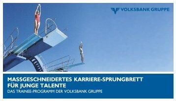 massgeschneidertes karriere-sprungbrett für junge talente - Volksbank