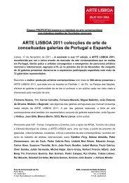 ARTE LISBOA 2011 colecções de arte de conceituadas - Feira ...