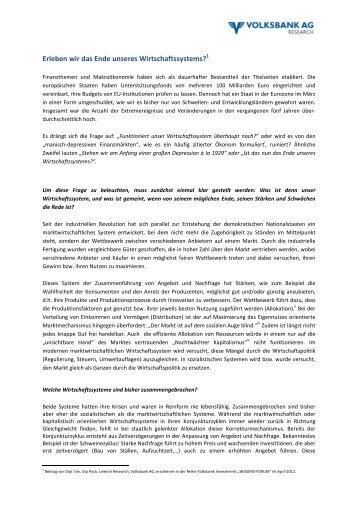 Publikation als PDF herunterladen - Volksbank AG