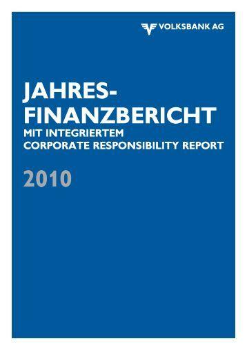 jahresfinanzbericht - Volksbank AG