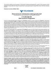 Österreichische Volksbanken-Aktiengesellschaft ... - Volksbank AG