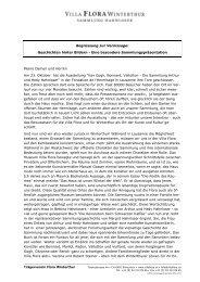 Ansprache als PDF downloaden - Die Villa Flora