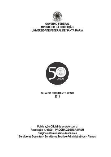 GUIA DO ESTUDANTE 2011 - UFSM