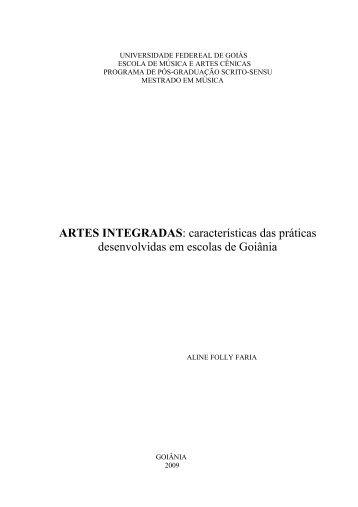 ARTES INTEGRADAS: características das práticas ... - EMAC - UFG