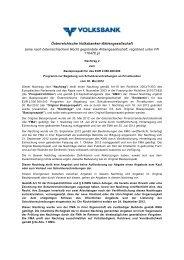 eine nach österreichischem Recht gegründete - Volksbank AG