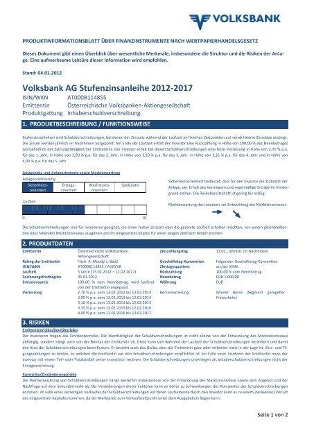 OEVAG PIB Muster Stufenzinsanleihe final draft - Volksbank