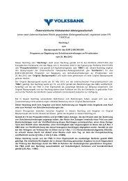 eine nach österreichischem Recht gegründete ... - Volksbank AG
