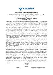 Österreichische Volksbanken-Aktiengesellschaft (a ... - Volksbank AG