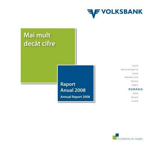 Raport anual 2008 - Volksbank AG