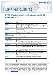 Termsheet - Volksbank AG